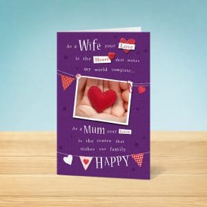 Wife & Mother's Day Card Front