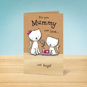 cats Mothers Day card front
