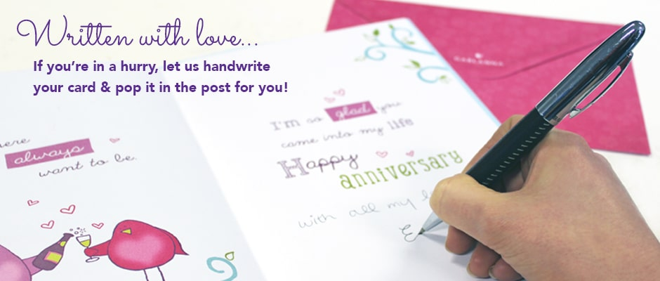 handwritten greeting cards