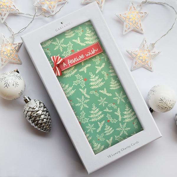 Luxury irish charity christmas cards x 10 a festive wish festive wish christmas card m4hsunfo