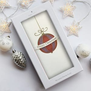 irish christmas card with a bauble