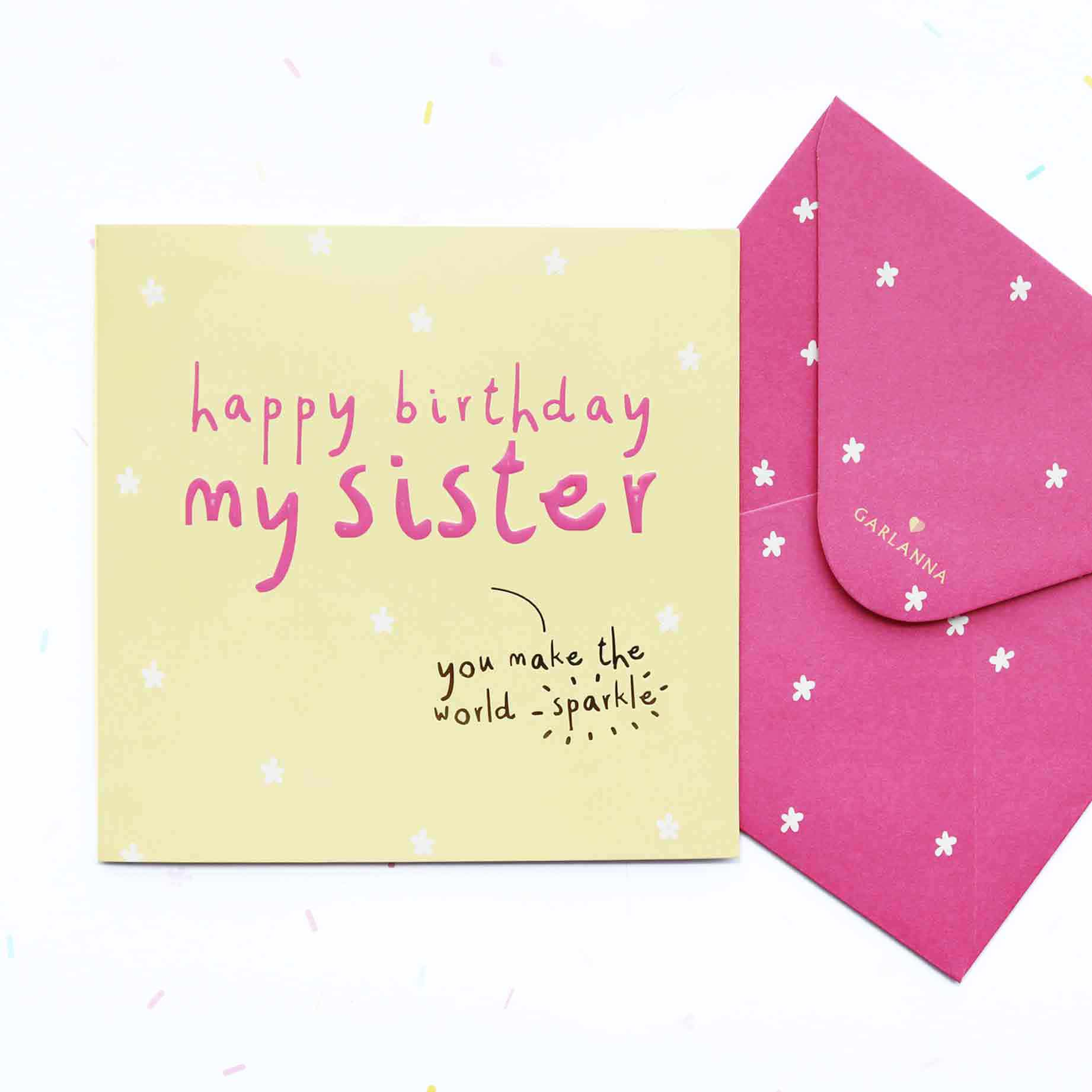 Little moments sister birthday card garlanna greeting cards sister birthday card m4hsunfo