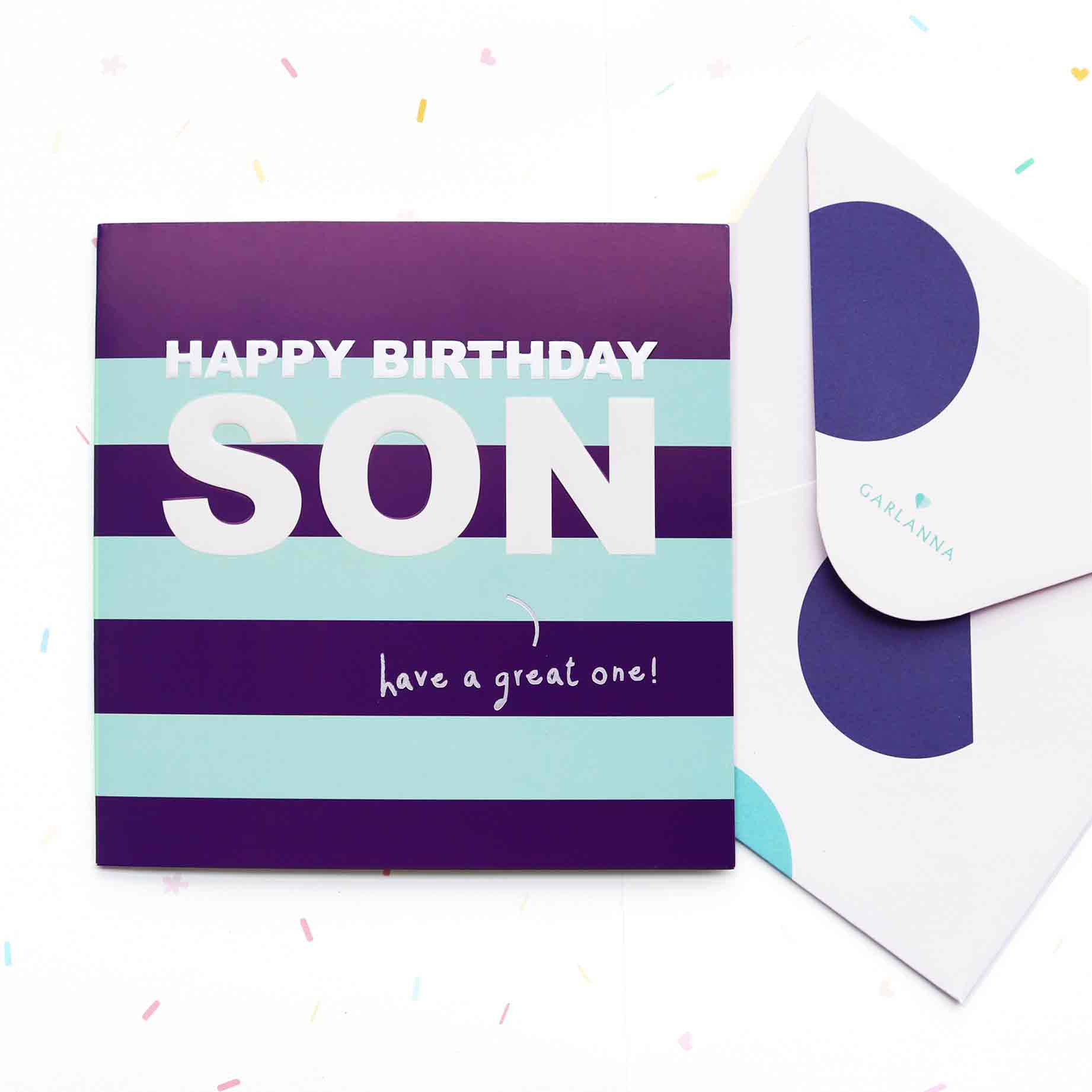 Little Moments Son Birthday Card Garlanna Greeting Cards