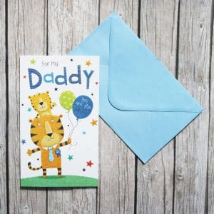tiger fathers day card