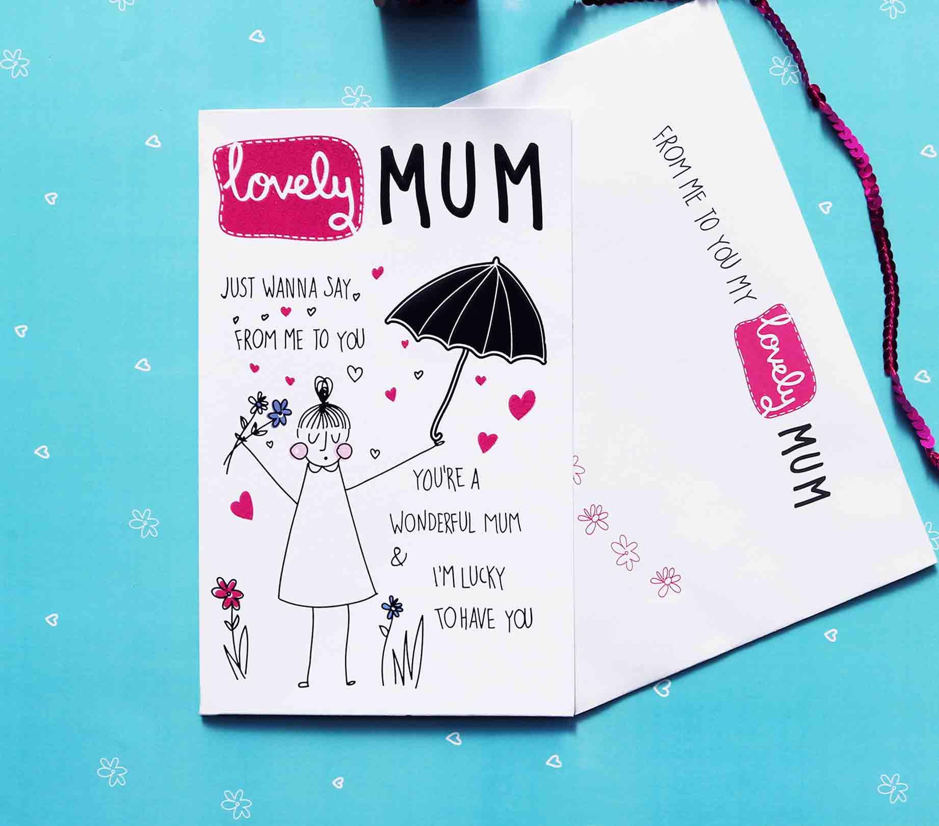Lovely mum birthday card