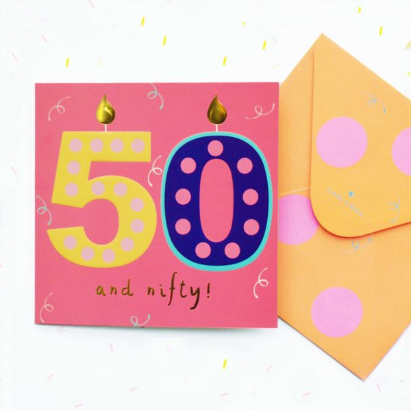 G2140 50th Birthday Card