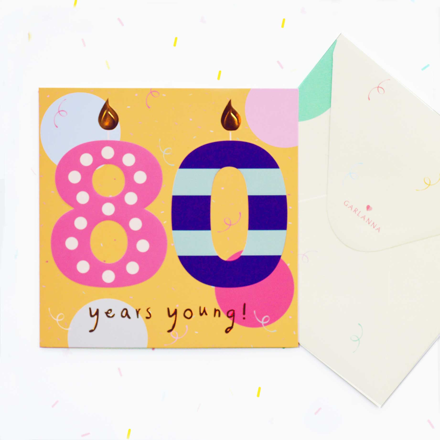 G2143 80th Birthday Card