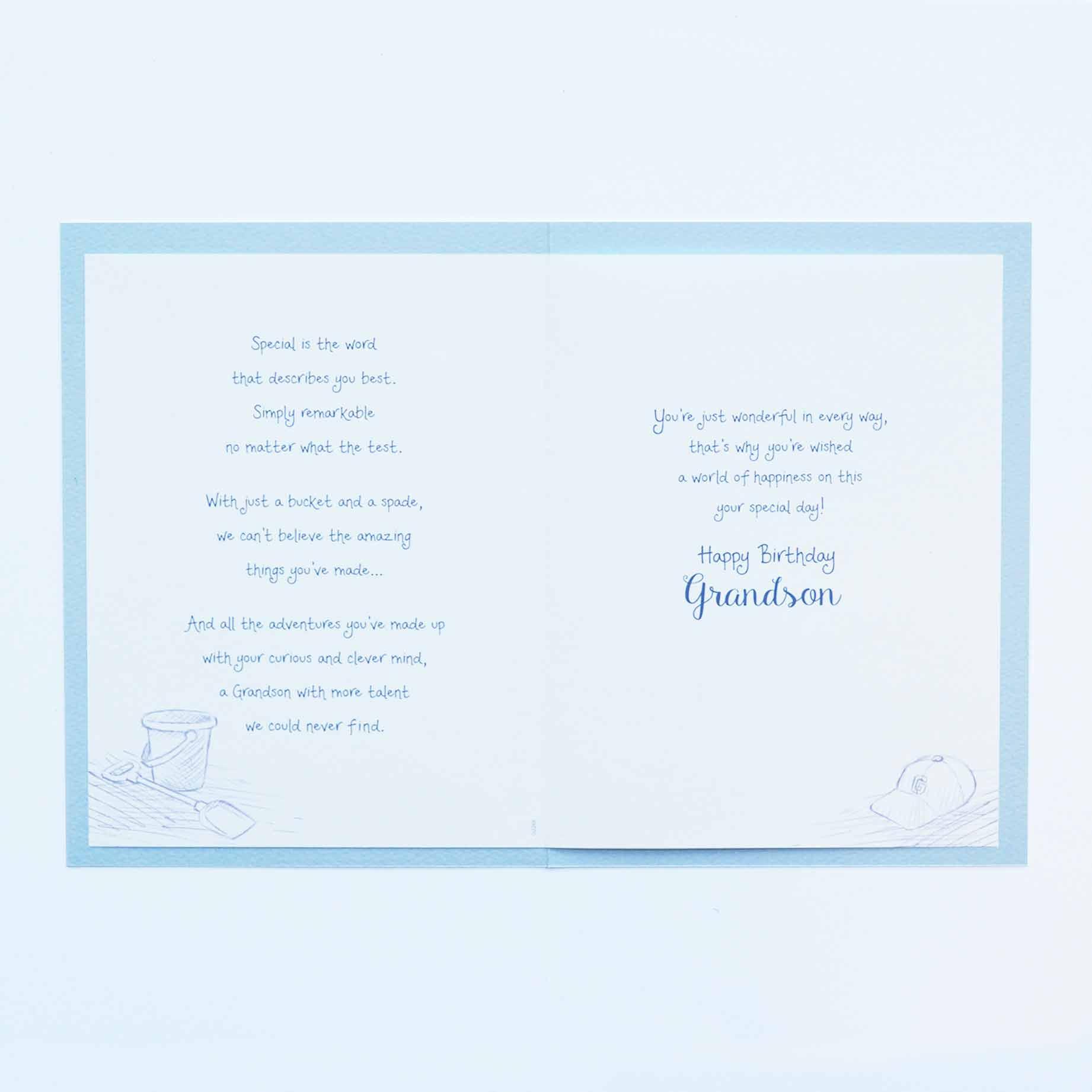 Words Of Warmth Grandson Birthday Card