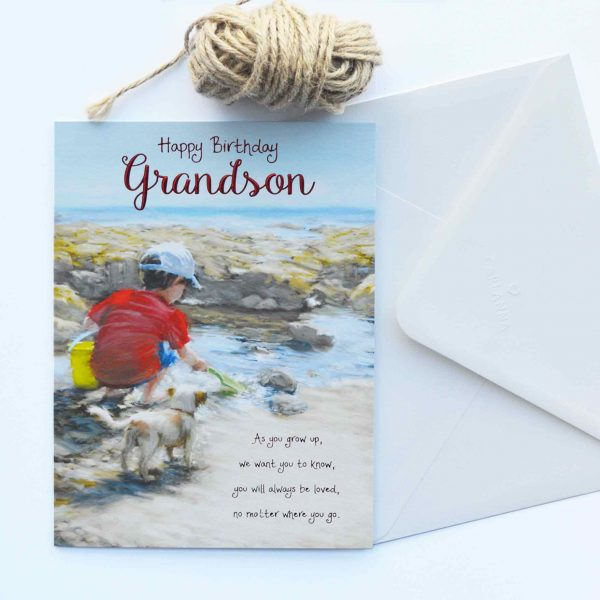 Words of warmth grandson birthday card garlanna greeting cards grandson birthday card grandson birthday card bookmarktalkfo Image collections