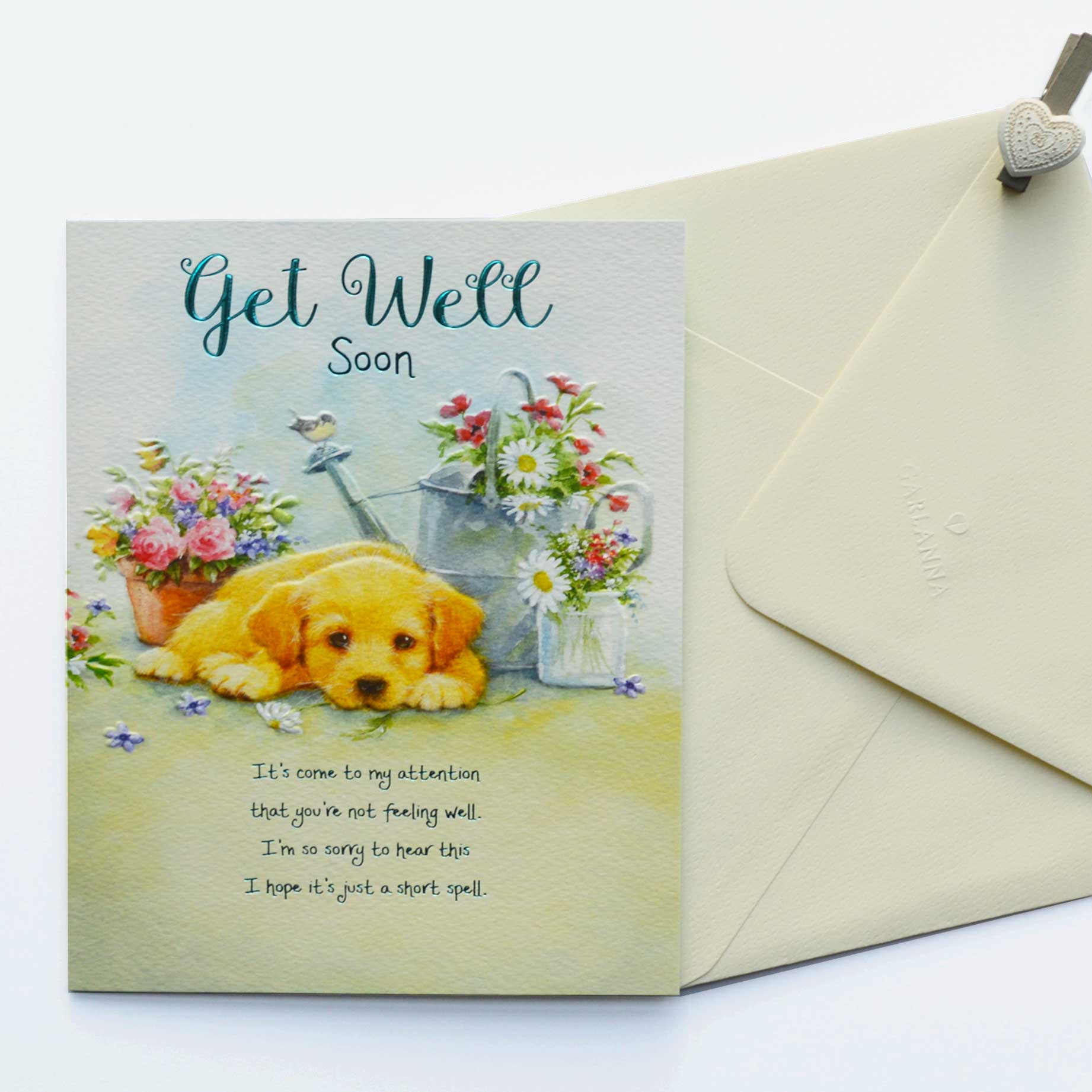 Words of Warmth Get Well Soon Card - Garlanna Greeting Cards
