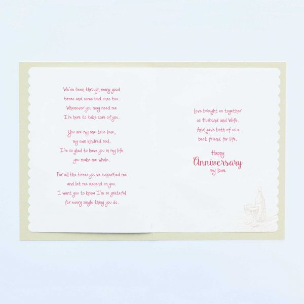 Words of Warmth Anniversary Card - Garlanna Greeting Cards