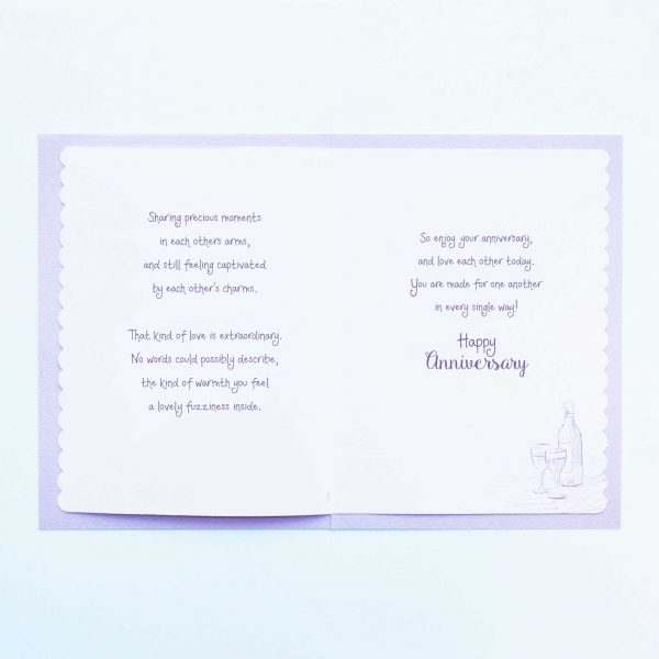 Words of Warmth Happy Anniversary Card - Garlanna Greeting Cards