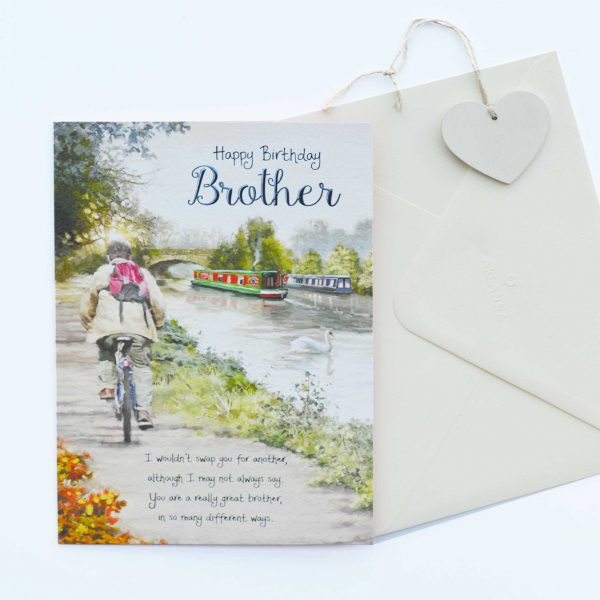 Words Of Warmth Brother Birthday Card Garlanna Greeting Cards