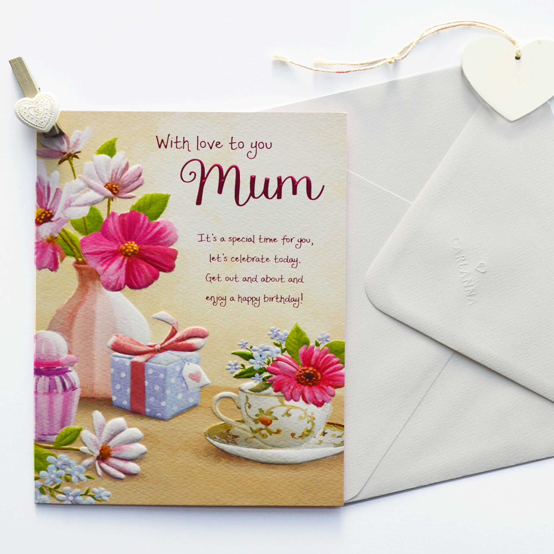 Words of Warmth Mum Birthday Card Garlanna Greeting Cards