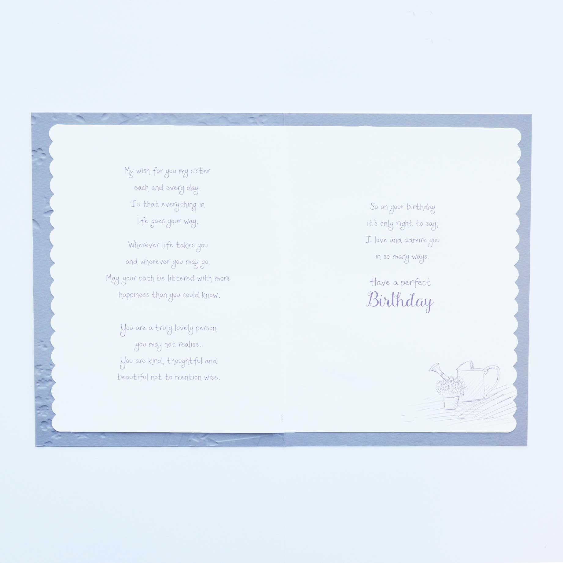 G2295 Sister Birthday Card 2 Garlanna Greeting Cards