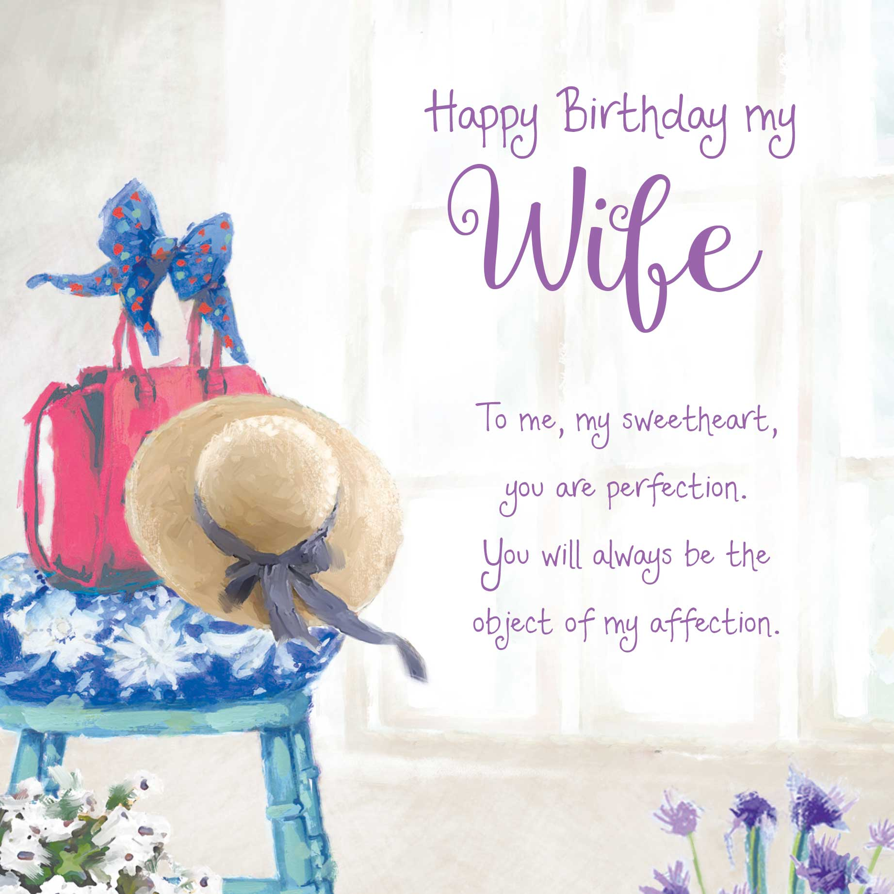 Luxury birthday cards for wife images laughterisaleap words of warmth wife birthday card garlanna greeting cards bookmarktalkfo Images