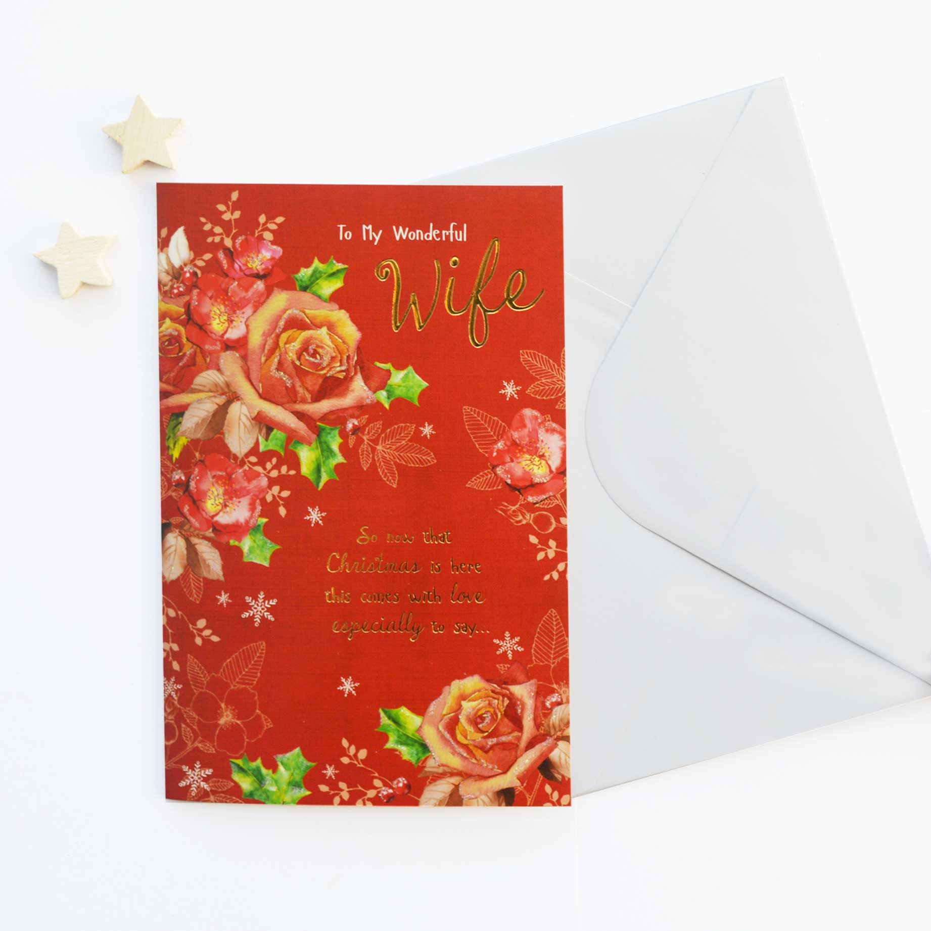 Christmas card wife garlanna greeting cards christmas card wife m4hsunfo