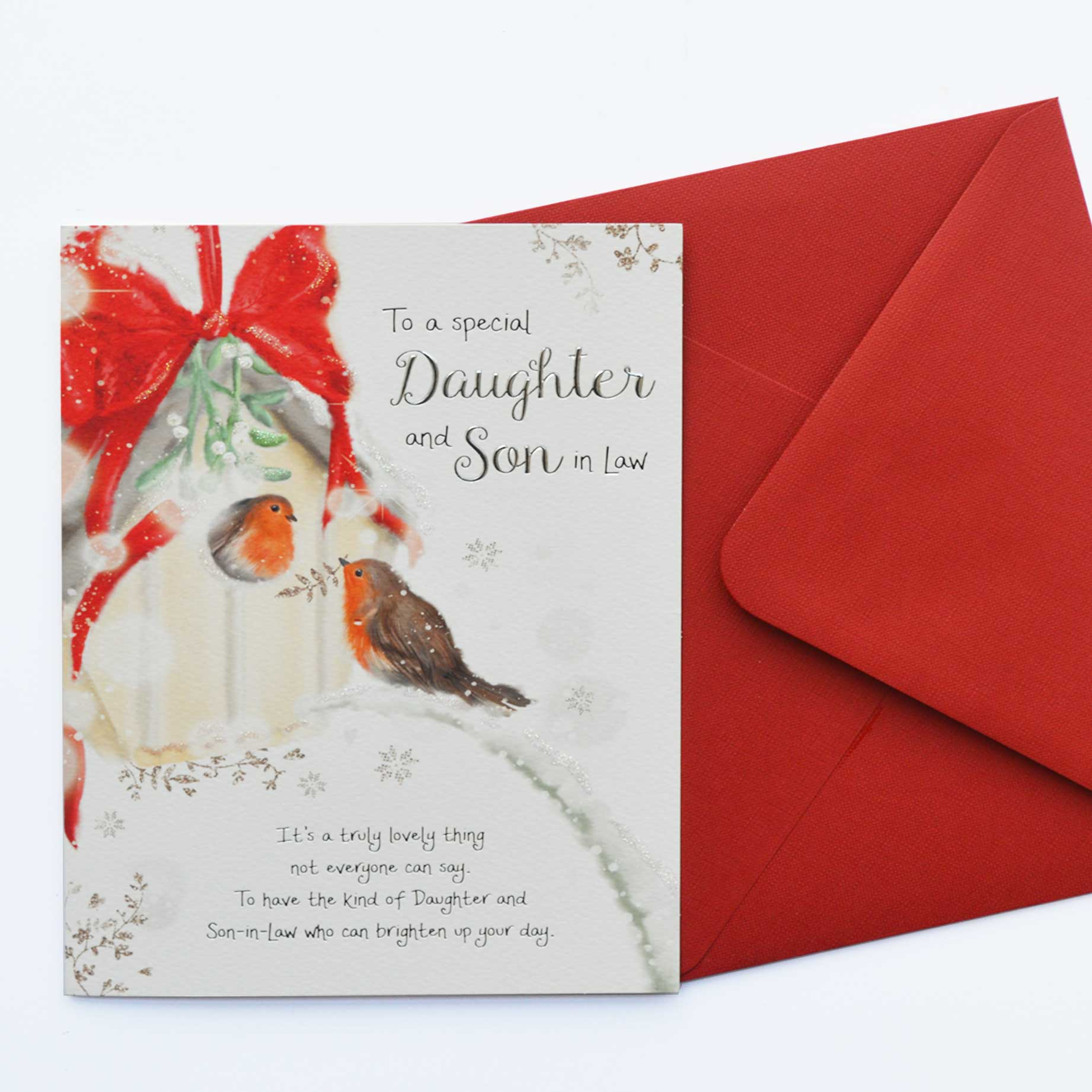 Christmas Words of Warmth Daughter and Son in Law Card - Garlanna ...