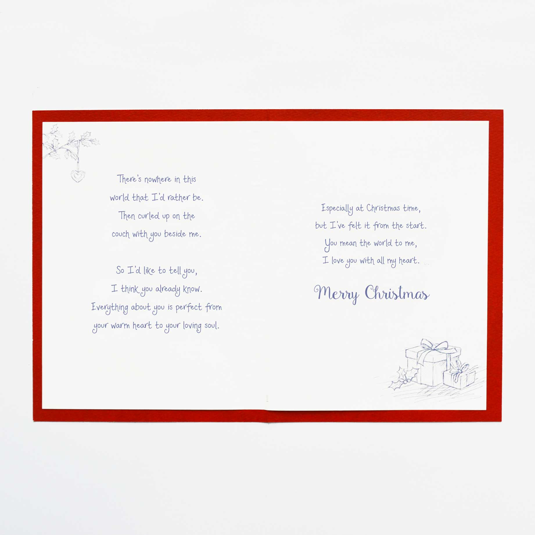 christmas words of warmth special someone card