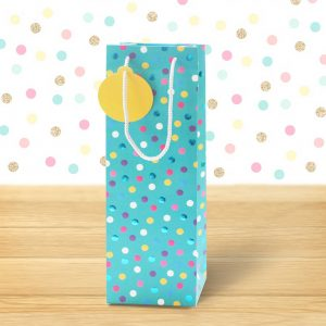polka dot bottle bag