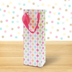 polka dots bottle bag