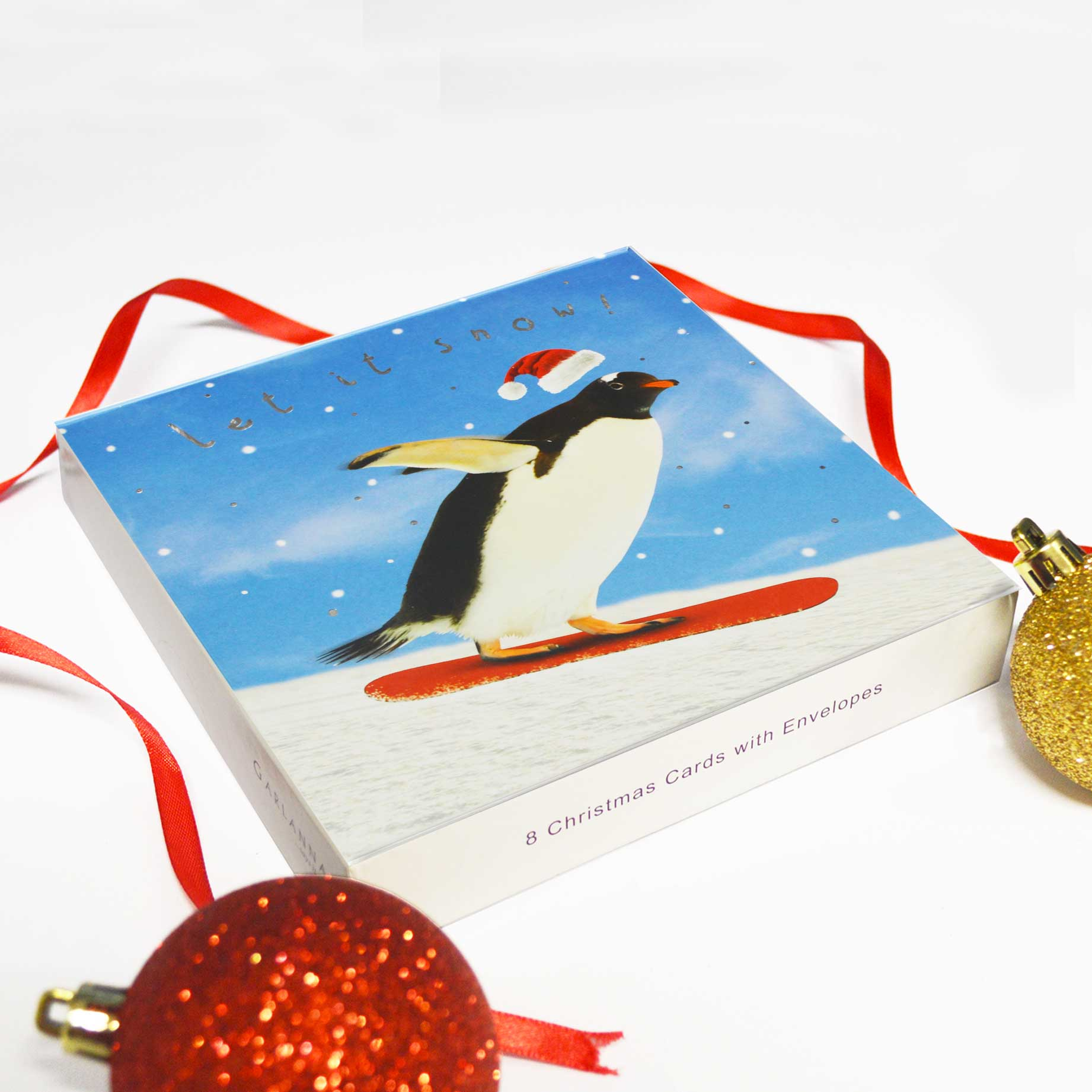 Christmas Cards x8 Let It Snow! - Garlanna Greeting Cards