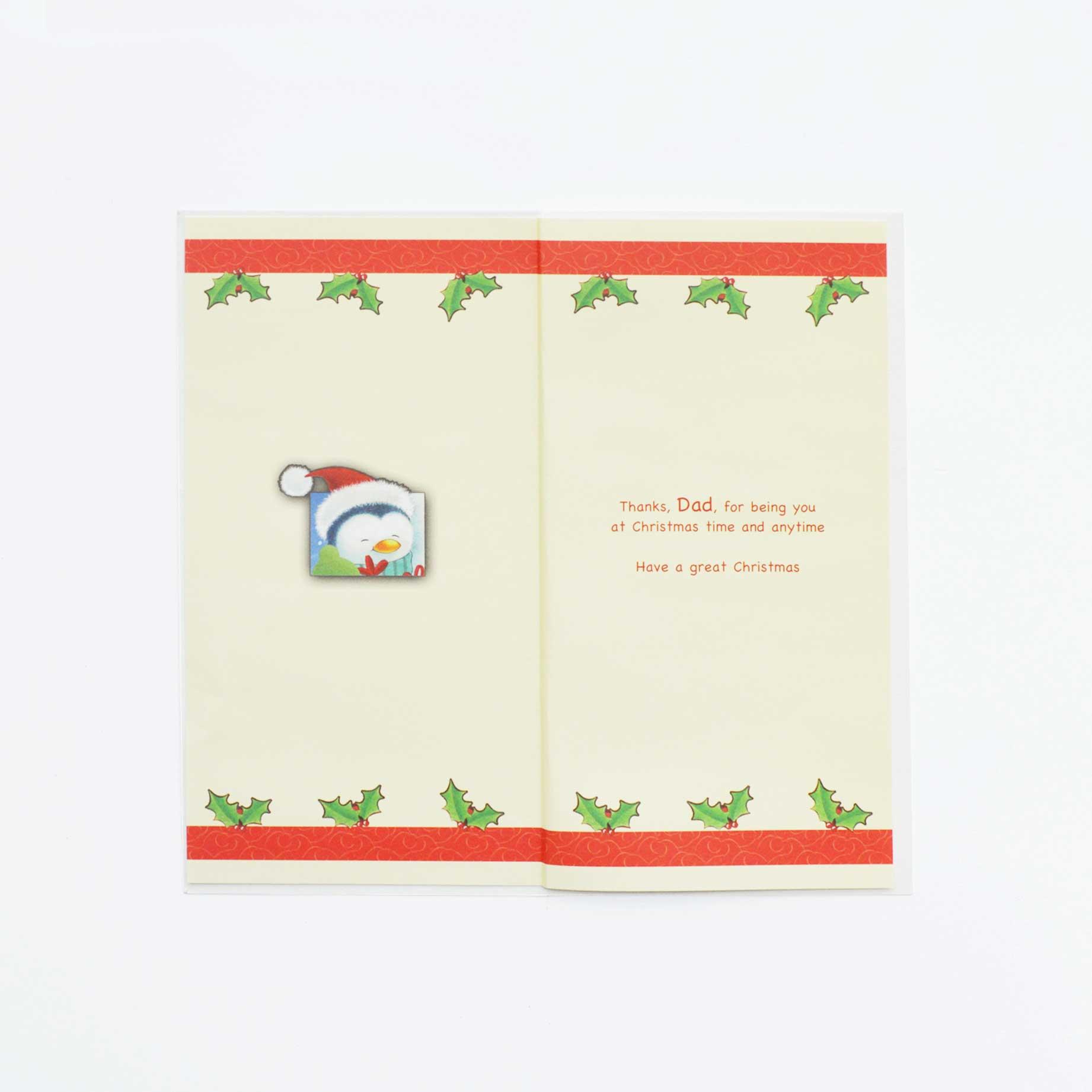 A Santa Christmas Card For Dad - Garlanna Greeting Cards