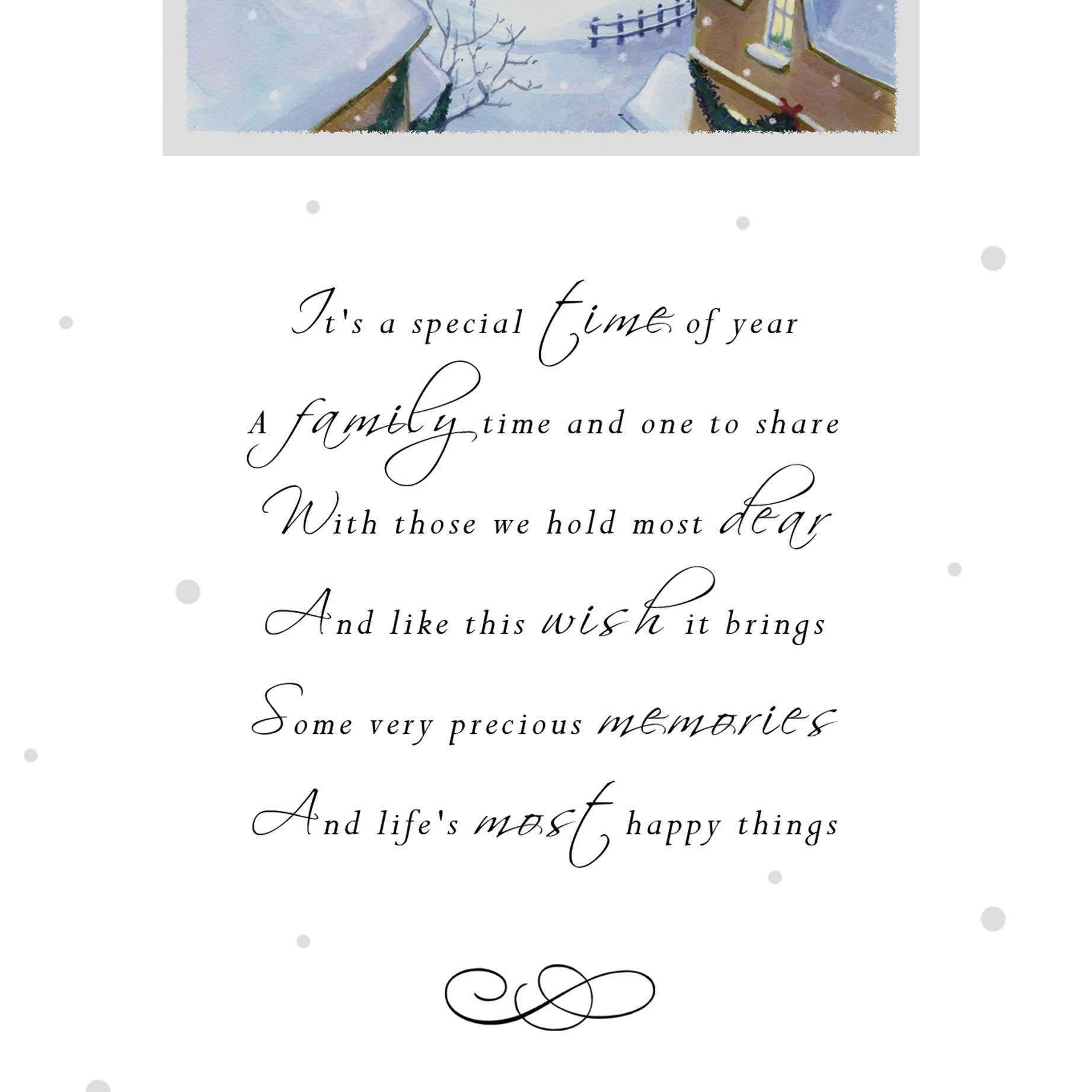 Christmas Card Mum and Dad - Garlanna