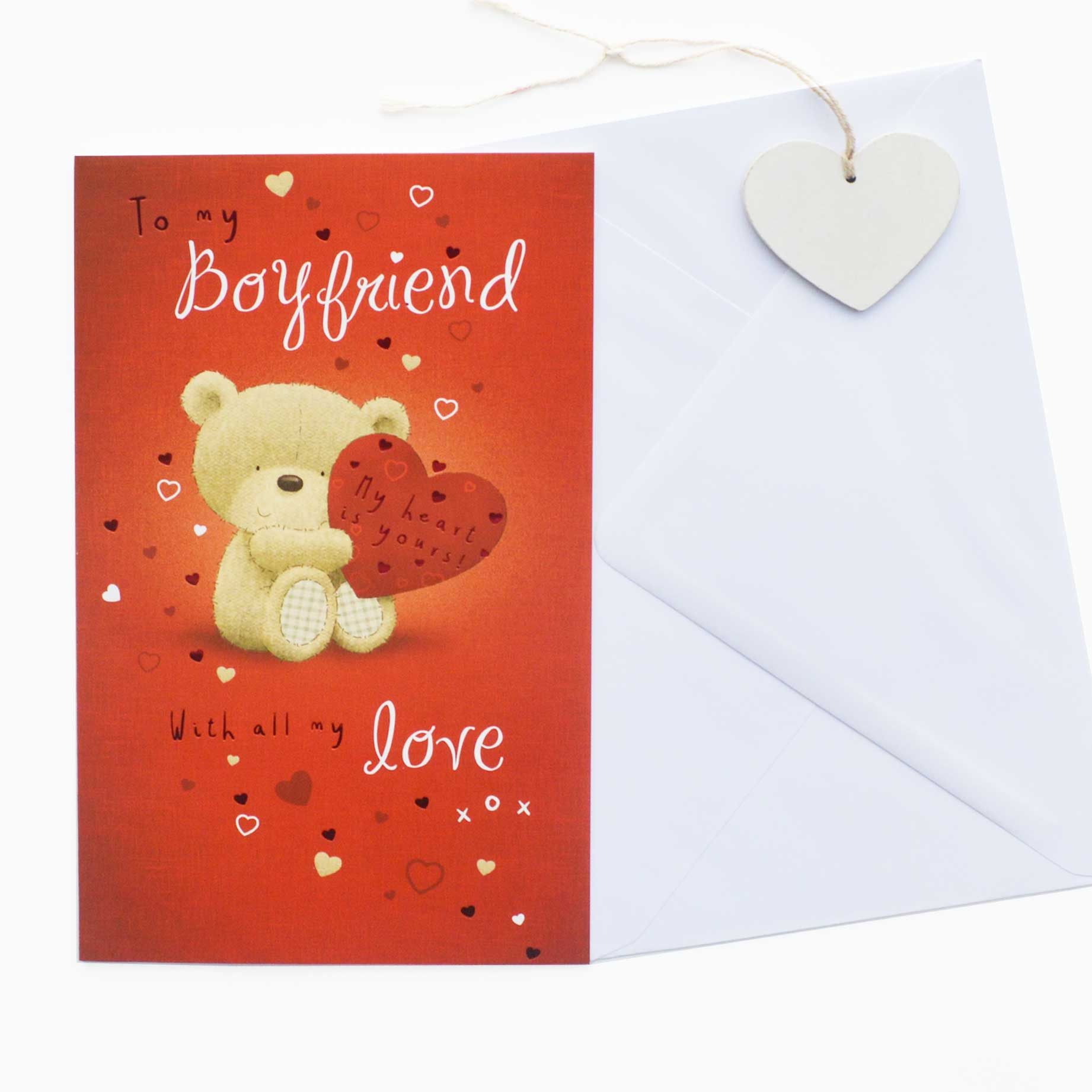 Valentines Card Boyfriend Garlanna Greeting Cards