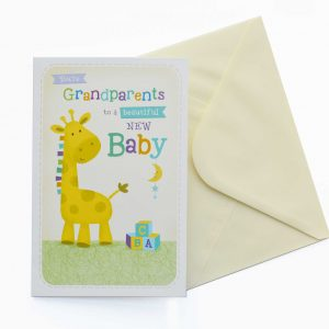 grandparents baby card