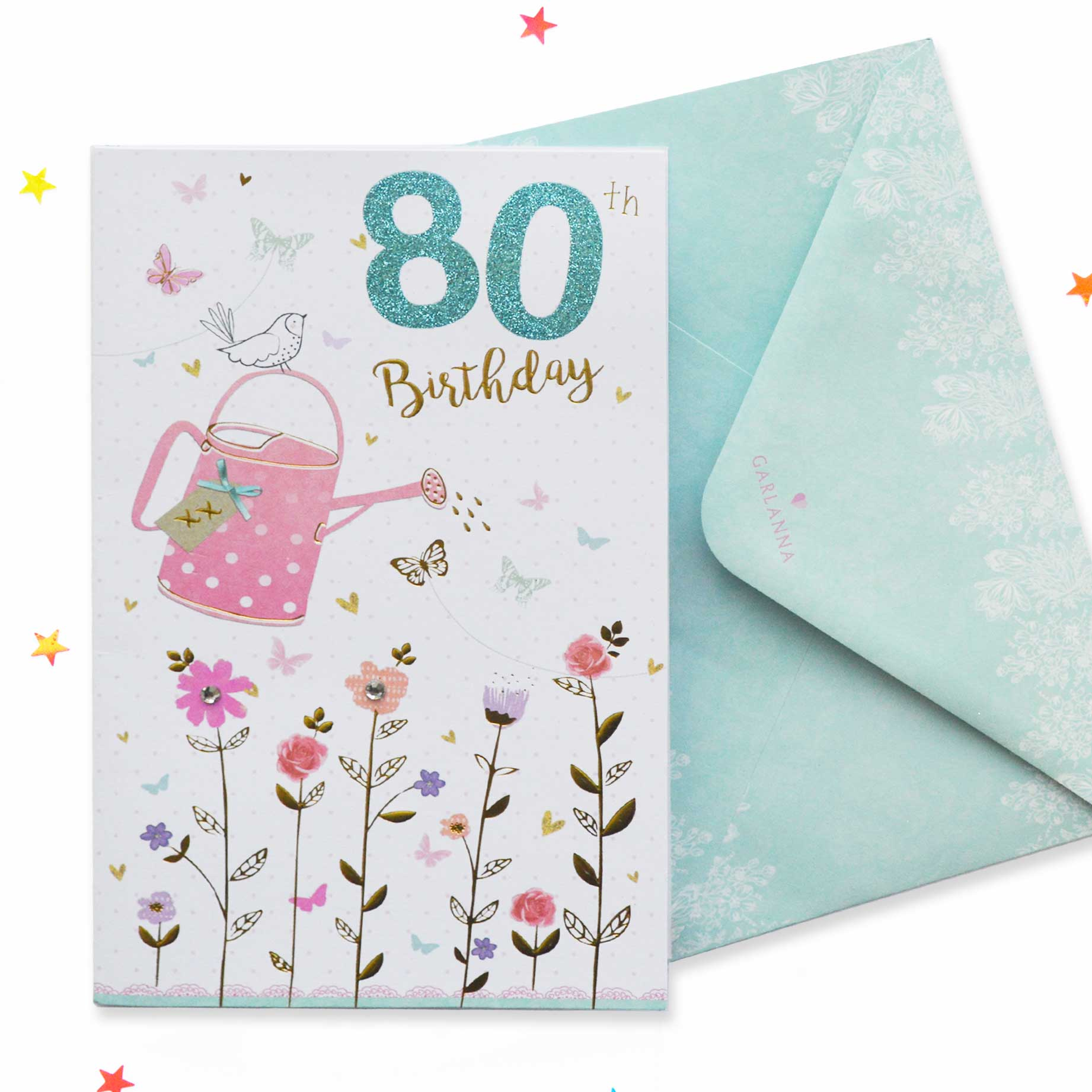 Sparkle 80th Birthday Card