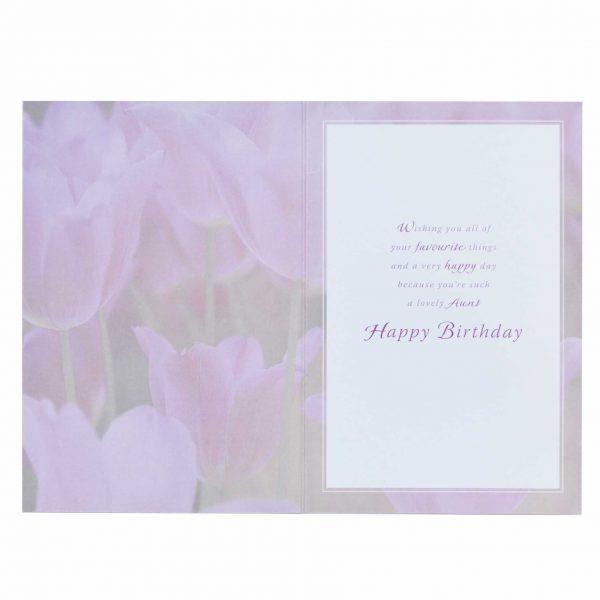 Birthday Card Aunt Flowers Garlanna Greeting Cards