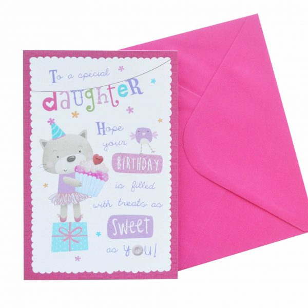 Birthday Card Daughter Sweet Treats G1792 Front