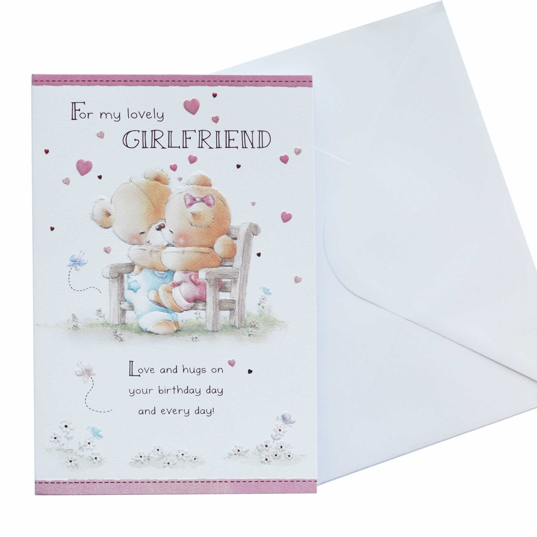 Birthday Card Girlfriend Cute Teddy Bears