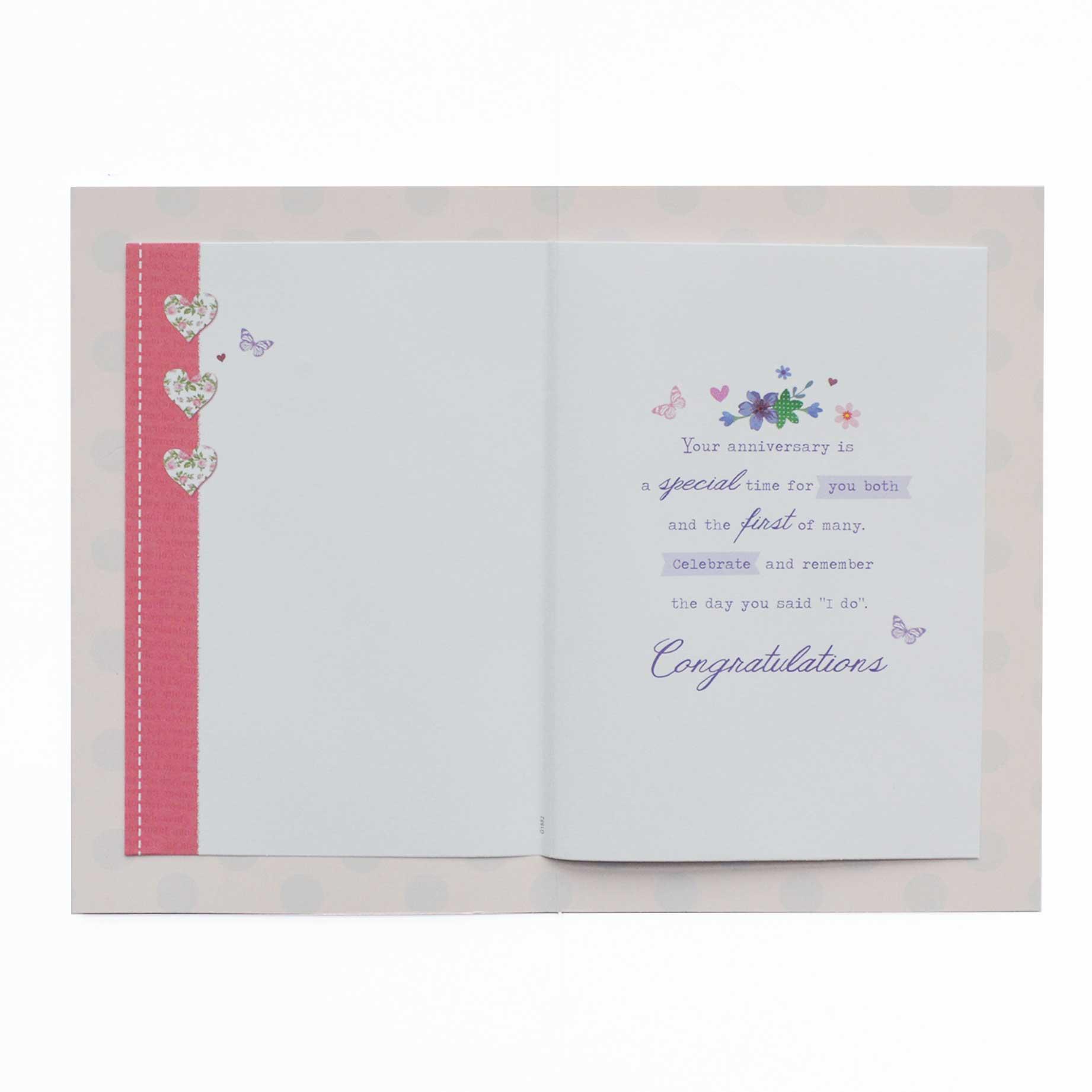 Anniversary Card Your 1st Wedding Anniversary Garlanna Greeting Cards
