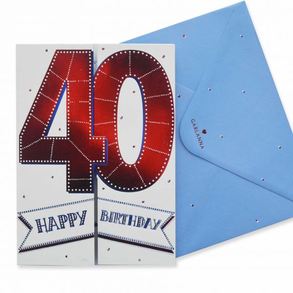 3D Age Cards 40th Birthday