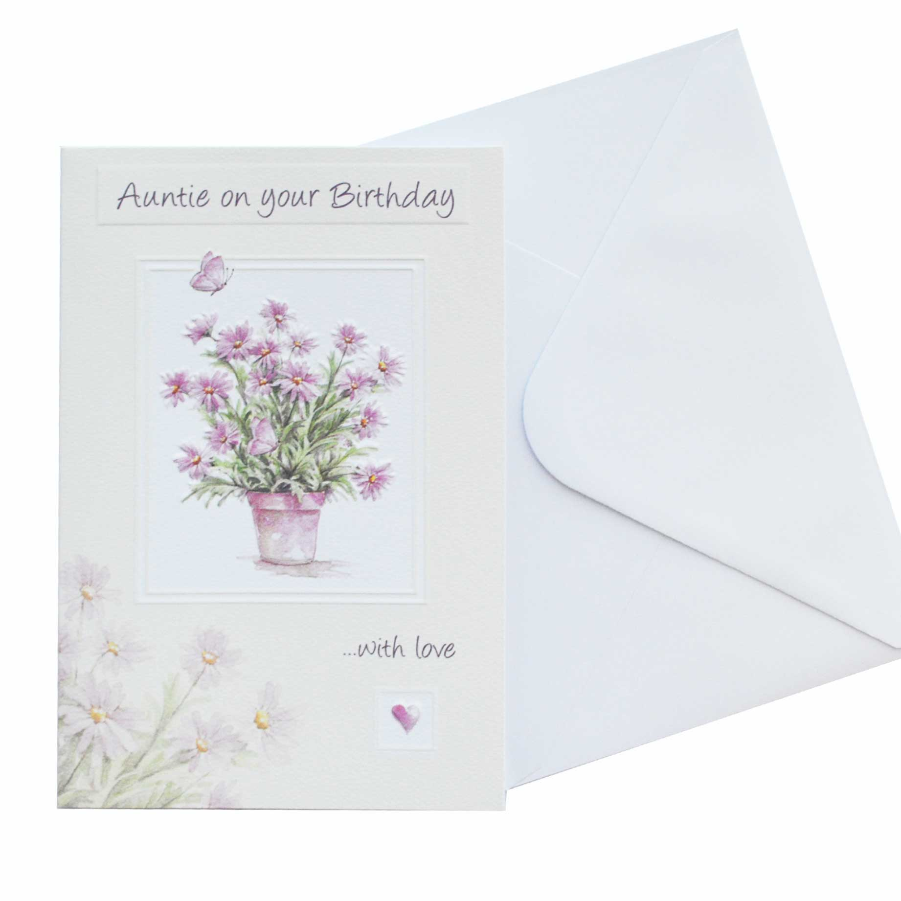 Birthday Card Auntie Flowers