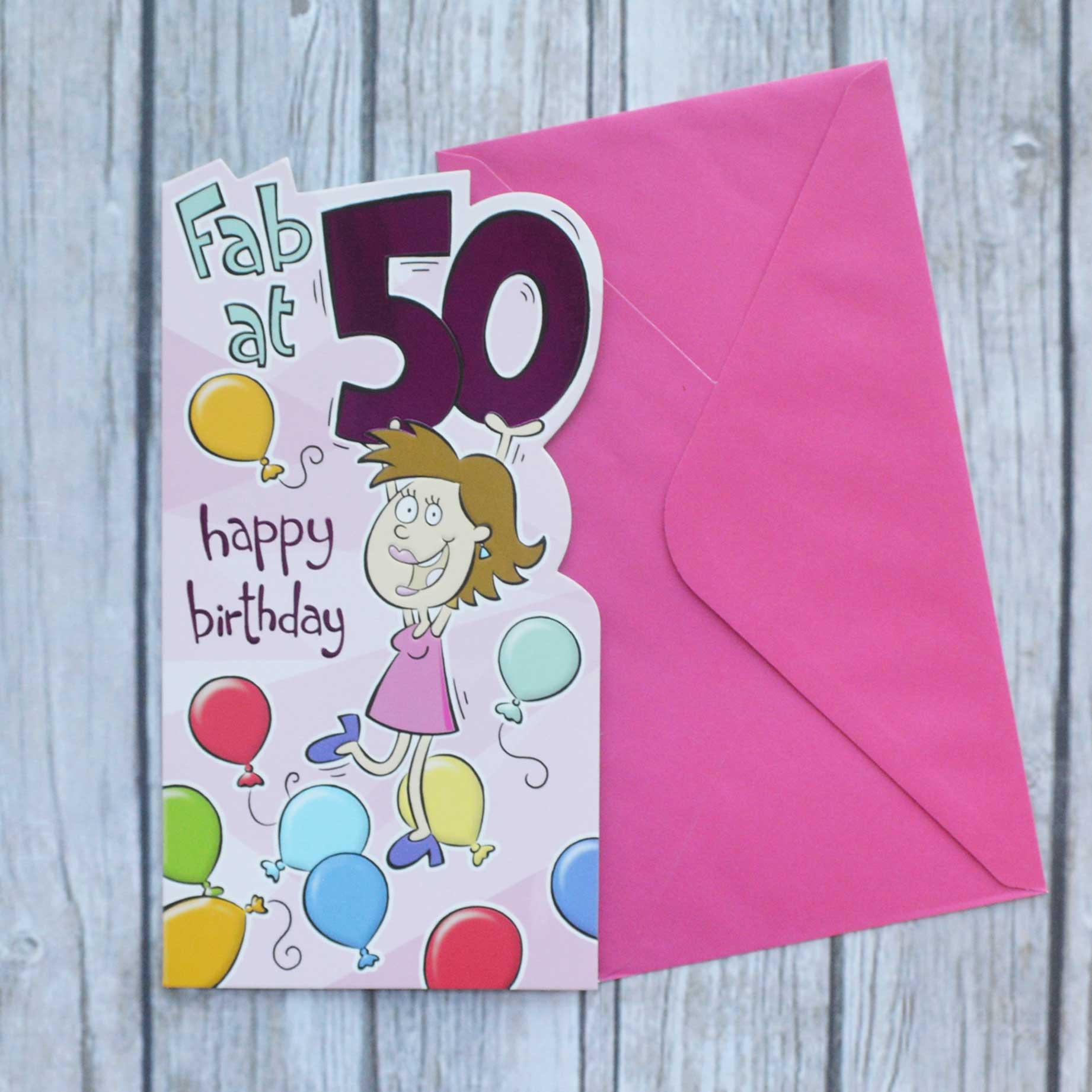 Fab 50 Birthday: 50th Birthday Card Fab At 50