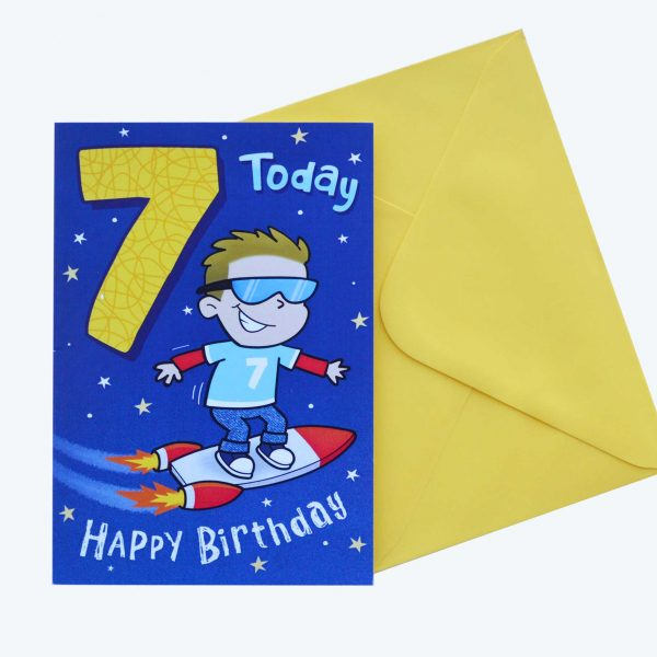 Birthday Card 7th Boy