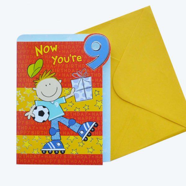 Birthday Card 9th Boy