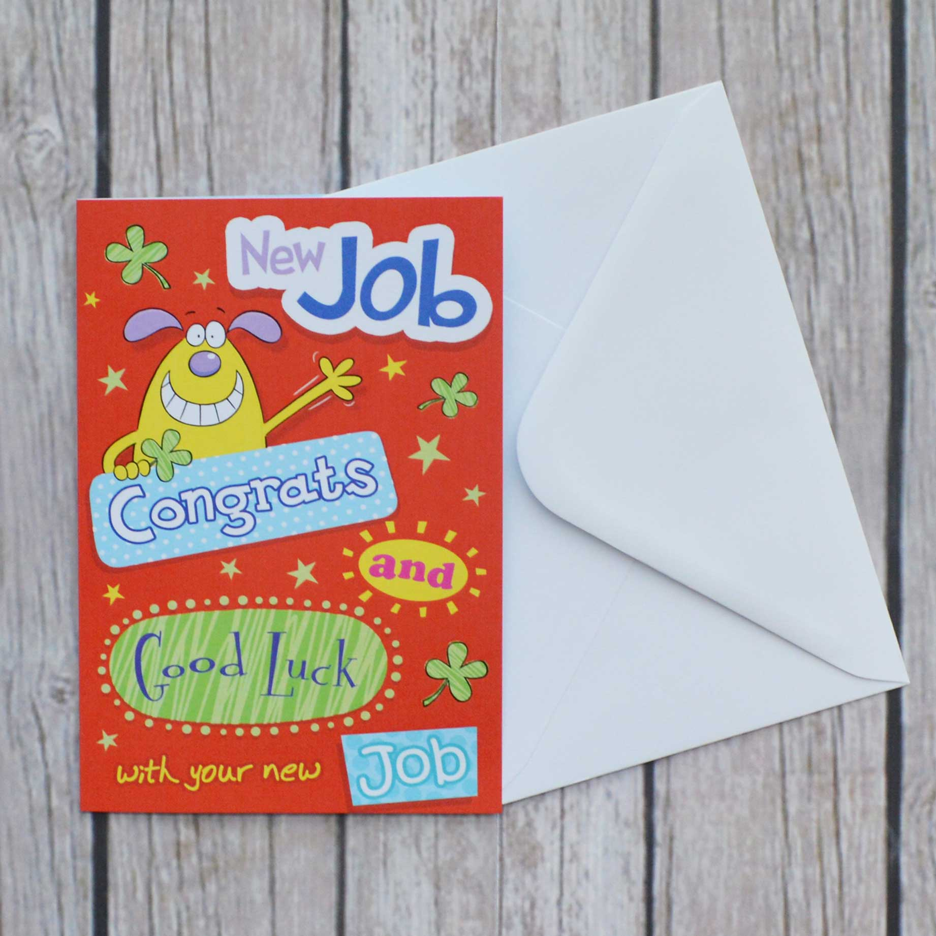 Congratulations New Job Garlanna Greeting Cards