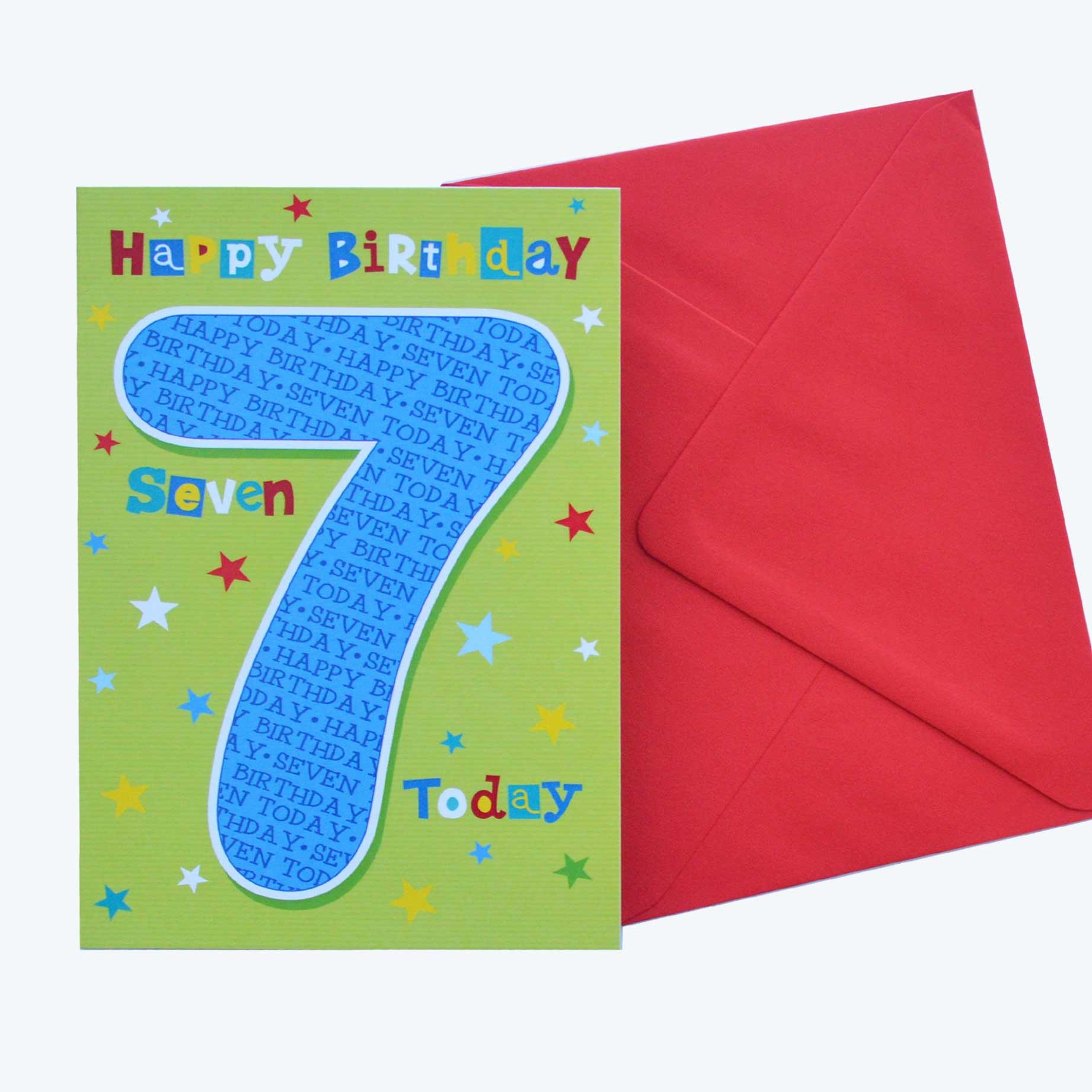 Birthday Card 7th Birthday Boy