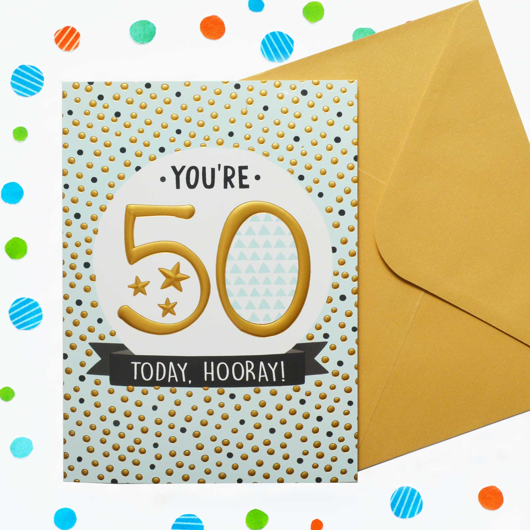 Just To Say 50th Birthday Garlanna Greeting Cards
