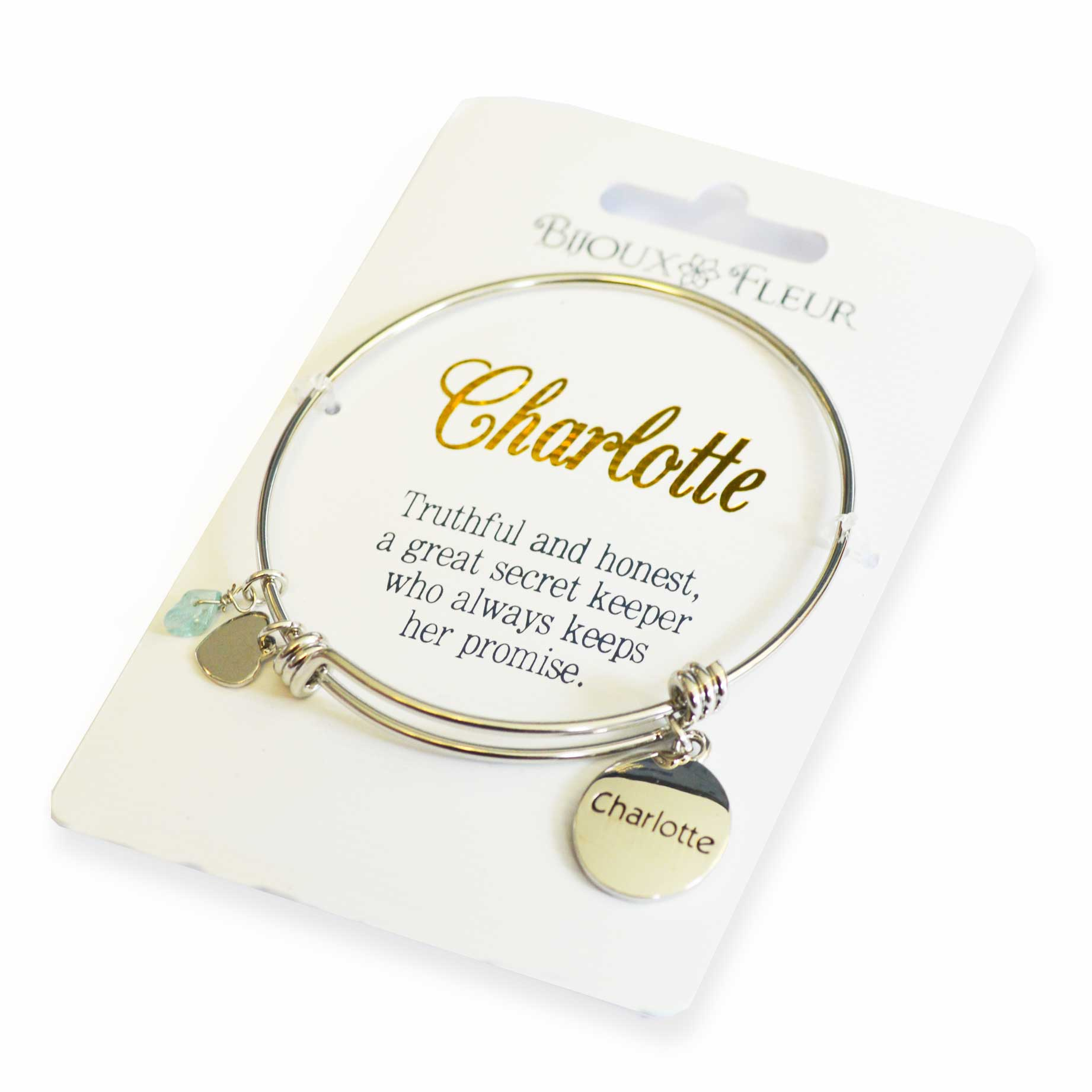 3421657d08dae6 Bijoux Fleur Bangle Charlotte - Garlanna Greeting Cards