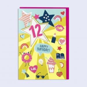 12th birthday girl card