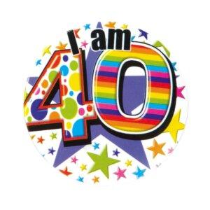 Age 40 <br/> Small Badge